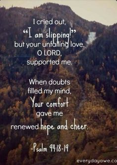 Psalm 94:18-19