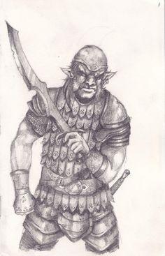 Hobgoblin Warrior  http://www.elfwood.com/u/protector/image/1f200570-271b-11e4-9ecf-d547aae57bd2/hobgoblin-warrior