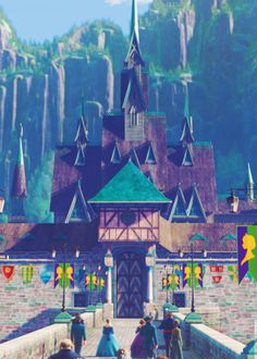 8. The castle I wish I lived in: Arendelle castle. I promise I'm not biased to CGI-animated Disney movies, quite the contrary! This one is just my favorite, and I feel like we see a lot of it in the movie.