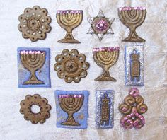 Make these beautiful Hanukkah ornaments out of baker's clay. It's a fun activity. Make these beautiful Hanukkah ornaments out of baker's clay. It's a fun activity for the whole Hanukkah For Kids, Hanukkah Crafts, Jewish Crafts, Hanukkah Decorations, Hannukah, Holiday Crafts, Hanukkah Recipes, Holiday Recipes, Kwanzaa Principles