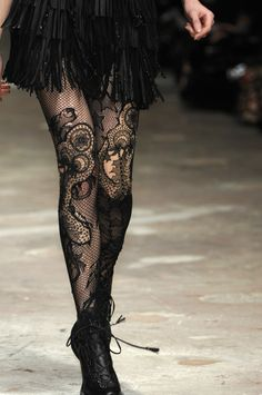 Emma Cook Fall 2008 ~ elegant stockings if worn with a plain black short dress