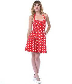 Awesome Red dress with white polka dots review