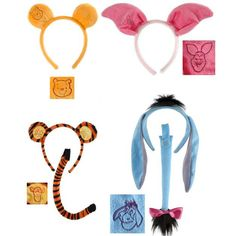 DISNEY POOH & FRIENDS HEADBAND SETS FAUX FUR ELOPE FREE SAME DAY SHIPPING www.TuTuHeaven.com