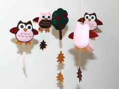 Felt+Baby+Crib+Mobile+Pattern.+DIY+Owl+Mobile+by+FeltMagical,+$6.80