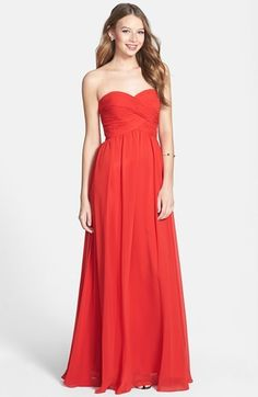$278, Colorblock Chiffon Gown by Faviana. Sold by Nordstrom. Click for more info: http://lookastic.com/women/shop_items/144305/redirect