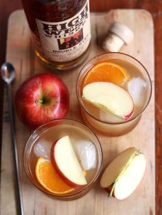 Apple Cider Old-Fashioned Cocktail Recipe.