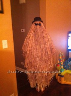 Super-Easy DIY Cousin Itt Costume from the Addams Family...