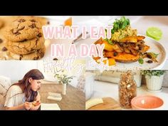 What I Eat in A Day | Healthy Full Day of Eating Plant Based - YouTube Soaked Almonds, Blanched Almonds, Cookie Recipes, Vegan Recipes, Vegan Meals, Cambria Joy, Post Workout Smoothie, Plant Based Eating, How To Can Tomatoes