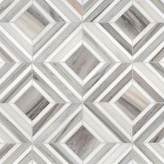 Talya Multi Finish 8 13/16x11 Yildiz Av D Marble Waterjet Mosaics | WATERJET MOSAICS | Marblesystems Inc.
