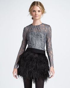 Love this Ostrich-Feather Miniskirt ShopStyle