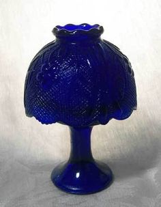 Cobalt Blue Glass Candle Lamp | eBay