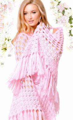 Patrón #1409: Chal a a Crochet #ctejidas http://blgs.co/n4v-4R