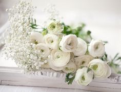 Favorite flowers - white ranunculuses  #flowers #white #ranunculuses