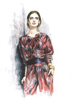 Fashion sketchbook inspiration behance new ideas Fashion Art, Editorial Fashion, Trendy Fashion, Fashion Models, Girl Fashion, Fashion Show, Fashion Outfits, Fashion Collage, Editorial Design