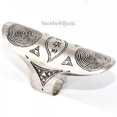 Bague longue en argent chic, bijoux ethnique artisanaux Roub2.