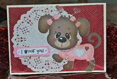 I WOOF YOU Valentine / Puppy Dog Valentine / by MoreFriendsAndCo, $4.50