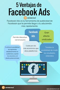 5 Ventajas de Facebook Ads #infografia #socialmedia #marketing
