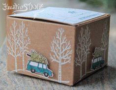 Weihnachtsbox Stampin' Up! Weiße Weihnacht KreativStanz Weihnachten