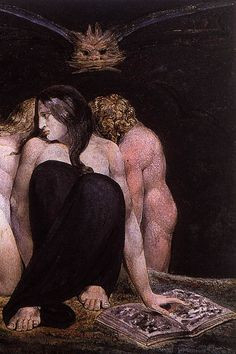 William Blake - Hecate or the Three Fates (1795)