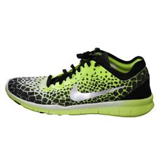 66374b92b58a Nike Free 5.0 TR FIT 5 PRT Women s Training Shoes Black Volt size 8.5 NEW