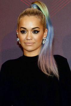 How the A-list rock rainbow hair