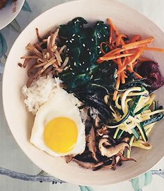 Korean Vegetable Rice Bowl / Romulo Yanes