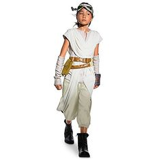 Star Wars Rey Costume for Kids  Star Wars The Force Awakens Size 78 *** Details can be found by clicking on the image.