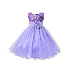 Weixinbuy Kids Girls Sequin Bowknot Sleeveless Summer Wedding Party Dress 0-10 Years