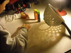 Shadow Drawings- all you need is a lamp & interesting objects on a large piece of paper.