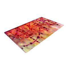 """Ebi Emporium """"Prismacolor Pearls"""" Pink Orange Woven Area Rug"""