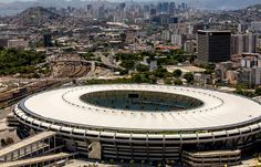 The #Maracana doesn't have a bad seat in the house and with an extended roof that covers 95% of the seats. #Rio #RiodeJaneiro #Brazil #Soccer #Stadiums