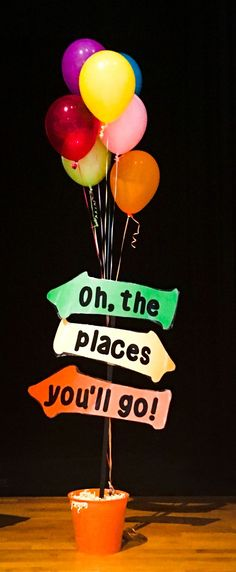 Oh the places you'll go! Kindergarten graduation decorations 5th Grade Graduation, Graduation Theme, Kindergarten Graduation, Graduation Celebration, Graduation Decorations, Graduation Ideas For Preschool, Graduation Cupcakes, Graduation Presents, School Parties