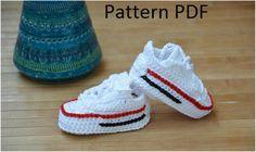 Converse Sneaker – Styled Baby Booties [ Crochet Patterns, Free Crochet Pattern] | Your Crochet