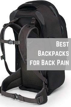 6 Best Backpacks for BACK PAIN to use in 2020 - [UPDATED] - #traveling #travelbackpack #backpack #travelgear #gear #osprey #thule #backpacks #backpacking #backpain #traveling