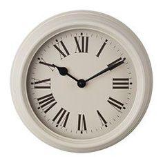 VERKTYG Wall clock, metal beige - IKEA
