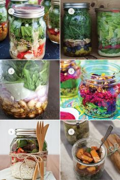 Slice of the Week :: a round-up of six salad in a jar recipes that we can't wait to try!