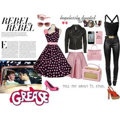 Grease is the Word, created by tizzy-potts.polyvore.com