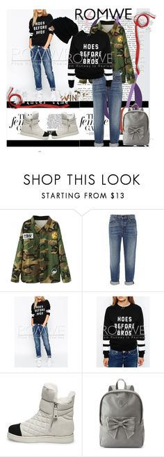 """sweatshirt"" by aida-1999 ❤ liked on Polyvore featuring Alexander Wang, Steve Madden and Candie's"