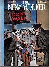 New Yorker Magazine January 24, 1959 Peter Arno Boy Scout Jaywalking Policeman