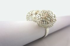 3D printed silver ring by Peter Donders. Like 3D printed #jewelry? Morpheus custom makes jewelry from images using 3d printing technology http://www.morphe.us.com/