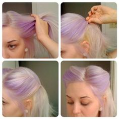 Easy Pin-Up hair tips and tricks! (Not going to look as cool on non-purple hair but I will try it nevertheless!)