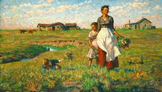The Prairie is My Garden by Harvey Dunn of Manchester. The SD Art Museum has the largest collection of Dunn's works in the world.