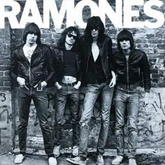 American punk rock group The Ramones. Left to right: Johnny Ramone - Tommy Ramone, Joey Ramone - and Dee Dee Ramone - Photo: Getty Images / RIP Tommy Ramones, Greatest Album Covers, Classic Album Covers, Famous Album Covers, Rock Album Covers, Book Covers, Joey Ramone, Punk Rock, Rock And Roll