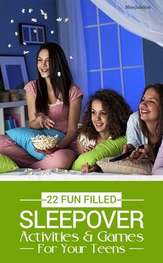 22 Fun Sleepover Games And Activities For Teens ( 9 To 18 Years) - Party Ideen Girl Sleepover Games, Fun Sleepover Ideas, Slumber Party Games, Teen Girl Games, Games For Sleepovers, Slumber Parties, Activities For Girls, Games For Teens, Party Activities