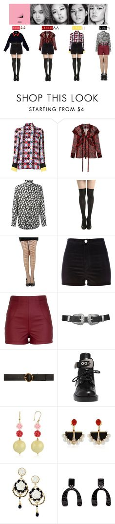 """""""BLACK PINK - PLAYING WITH FIRE❤"""" by vvvan99 ❤ liked on Polyvore featuring Emilio Pucci, Givenchy, Yves Saint Laurent, River Island, Topshop, STELLA McCARTNEY, Balenciaga, Lalique, Poporcelain and Proenza Schouler"""