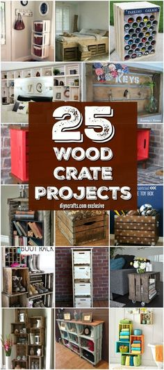 25 Wood Crate Upcycling Projects For Fabulous Home Decor - Organize and decorate your home using nothing but wood crates! Exclusive collection prepared by diyncrafts.com team