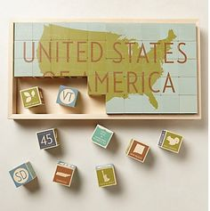 Handmade kids USA Block Set that grows with them.