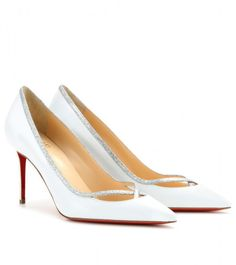 Love this: Princess 85 Glittertrimmed Leather Pumps @Lyst