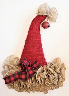 Your place to buy and sell all things handmade Diy Christmas Hats, Christmas Door Decorations, Burlap Christmas, Christmas Wreaths, Christmas Items, Christmas Signs, Holiday Decor, Halloween Door Wreaths, Halloween Hats