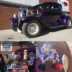 Beautiful day to take your #HotRod for a spin! #piparkinglot #purpleNitrousMonster #OldMiluakee #ford